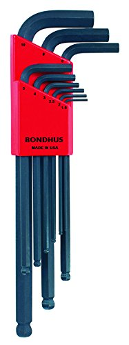 Bondhus 10999 Set of 9 Balldriver L-wrenches 1.5mm-10mm