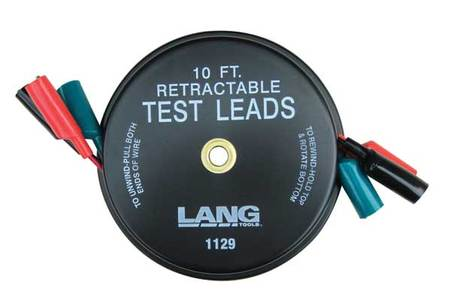 Lang 1129 Retractable Test Leads - 3 Leads x 10ft