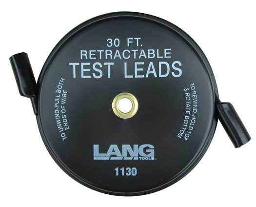 Lang 1130 Retractable Test Leads - 1 Leads x 30ft.