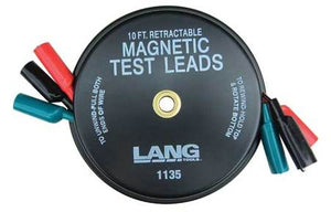 Lang 1135 Magnetic Retractable Test Leads - 3 Leads x 10ft.