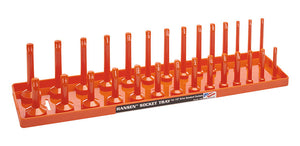 Hansen Global 1205 1/2″ Drive Standard Regular & Deep Socket Holder – Orange