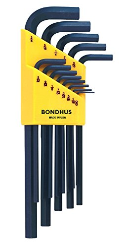 Bondhus 12137 Set of 13 Long Hex L-wrenches .050-3/8