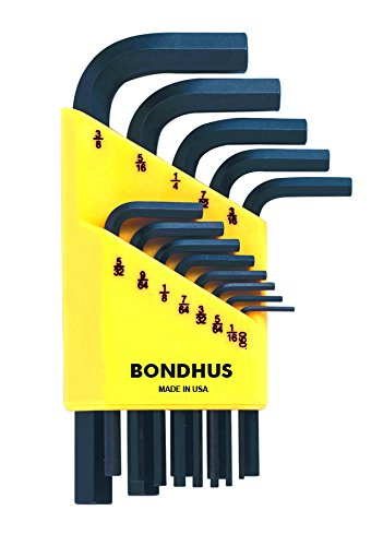 Bondhus 12237 Set of 13 Short Hex L-wrenches .050-3/8
