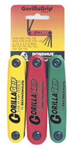 Bondhus 12533 GorillaGrip Hex and Star Fold-Up Tool Triple Pack