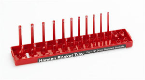 Hansen Global 1401 1/4″ Drive SAE Socket Tray - Red