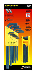Bondhus 14189 Balldriver L-Wrench Set 10937 (.050 - 3/8) and GorillaGrip Fold-up Set 12589 (5/64 - 1/4)
