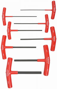 "Bondhus 15287 Set of 8 6"" T-Handle Allen Wrenches 2-10mm"