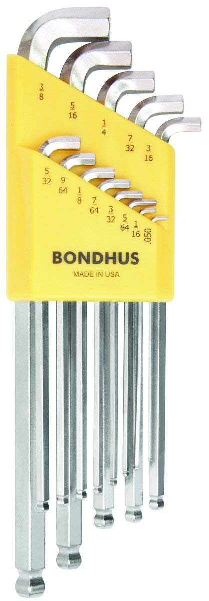 Bondhus 16737 Set of 13 BriteGuard Stubby Ball-End L-Wrenches
