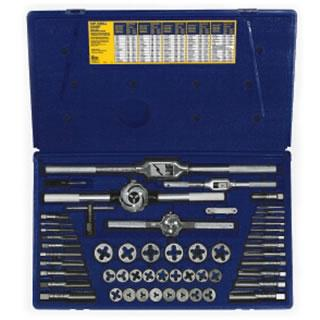 Irwin 24640 53-pc Machine Screw / Fractional Tap & Hex Die Set