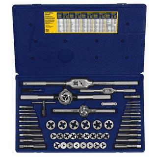 Irwin 26394 53-pc Metric Tap & Hex Die Set