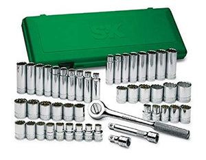 "SK 4147 - 47 Piece 1/2"" Drive 12pt SAE/Metric Chrome Socket Wrench Set"