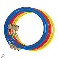 Mastercool 45372 Set of 3 - 72in Standard Hoses w/ Shut-Off Valve Fitting
