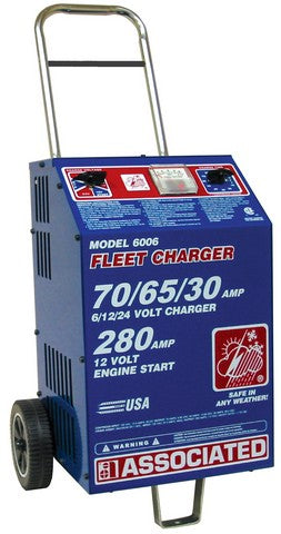 Associated Equipment Corp. 6006 6/12/24 Volt Heavy Duty Commercial Fleet Charger