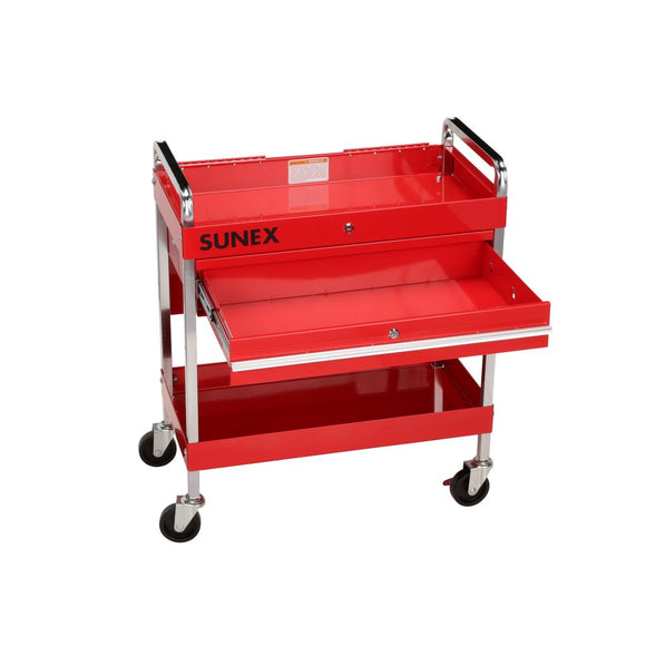 Sunex 8013A Service Cart with Locking Top w/ Locking Drawer