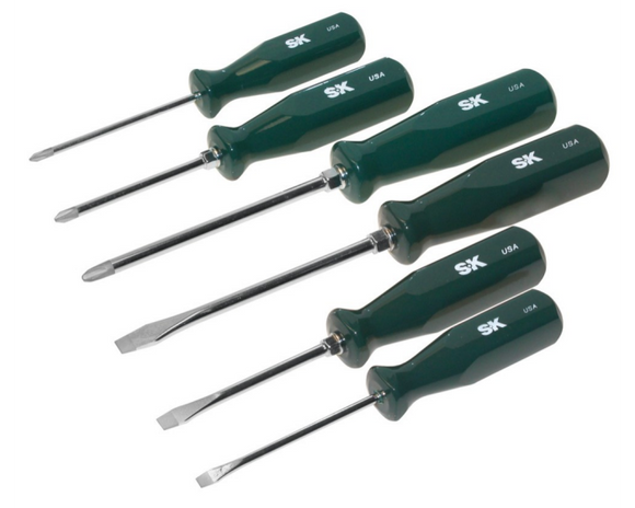 SK 86326 6 Piece SureGrip Automotive Screwdriver Set
