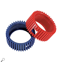 Mastercool 93553 Set of Red and Blue Gauge Protectors