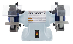 "Palmgren 9682061 6"" 1/3 HP Bench Grinder - No Dust Collection"