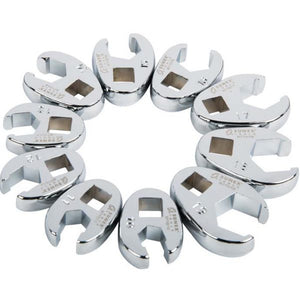 "Sunex 9710M 10pc. 3/8"" Dr. Metric Crowfoot Wrench Set"