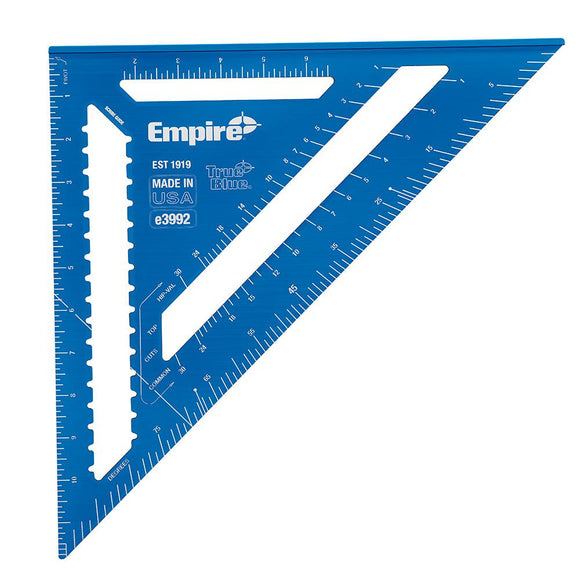 Empire E3992 True Blue Laser Etched 12 in. Rafter Square