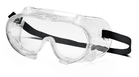 Pyramex G204 Goggles Clear Lens, Chem Splash