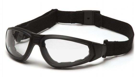 Pyramex GB4010ST XSG Clear H2X Anti-Fog Lens, Black Frame