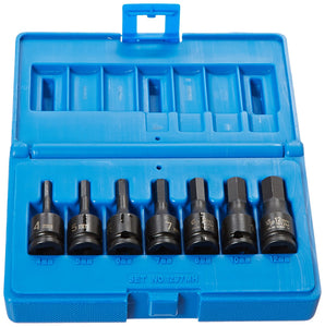 "Grey Pneumatic 1297MH 3/8"" 7-Piece Hex Driver Socket Set Metric"
