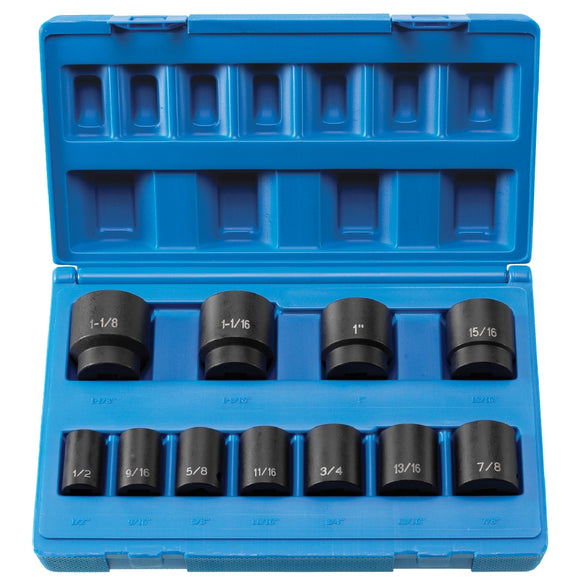 Grey Pneumatic 1311S 1/2'' Drive 11 PC 8-Point Standard Length Socket Set