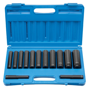 "Grey Pneumatic 1313XD 1/2"" Drive Extra-Deep Length Extra-Deep Impact Set"