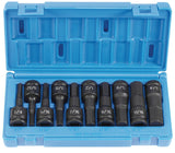 "Grey Pneumatic 1398H 1/2"" Drive 10-Piece Hex Driver Socket Set SAE"