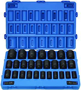 "Grey Pneumatic 8029D 3/4"" Drive 29-Piece Deep Fractional Master Socket Set"