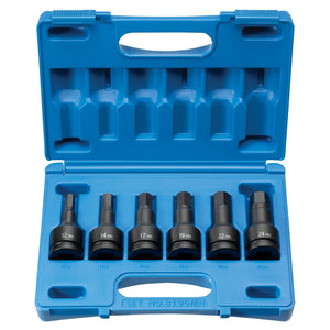 "Grey Pneumatic 8196MH - 3/4"" Drive 6 Piece Impact Hex Driver Metric Set"