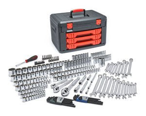 GearWrench 80942 - 239 Piece SAE/Metric Mechanic's Tool Set With 3 Drawer Case, 1/4