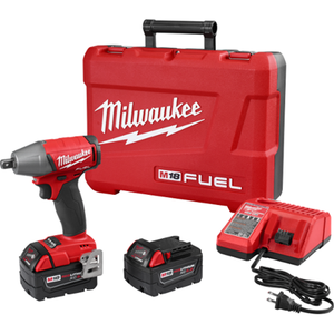 "Milwaukee 2755-22 M18 FUEL™ 1/2"" Compact Impact Wrench w/ Pin Detent Kit"