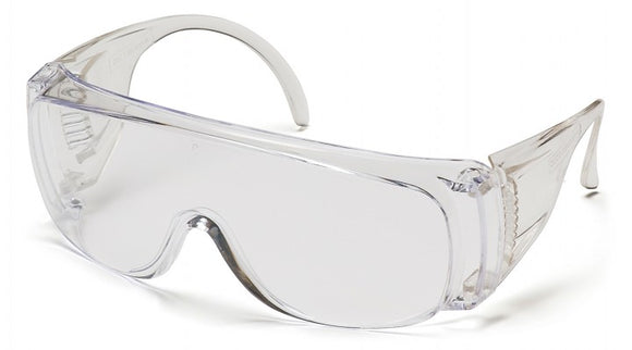 Pyramex S510S Solo Clear Lens, Clear Frame