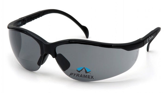 Pyramex V2 Readers Gray + Lens, Black Frame
