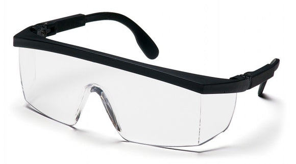 Pyramex SB410SR Integra Clear Lens, Black-Ratchet Frame