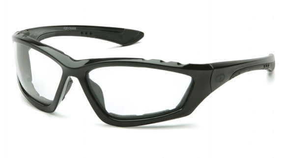 Pyramex SB8710DTP Accurist Clear Anti-Fog Lens, Black Frame