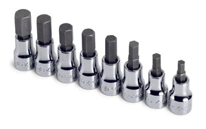 "SK 19708 - 8 Piece 3/8"" Drive Metric Hex Bit Socket Set"