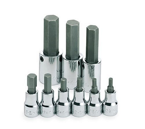 SK SKS 19733 Hex Bit Socket Set 9 Pc. 3/8