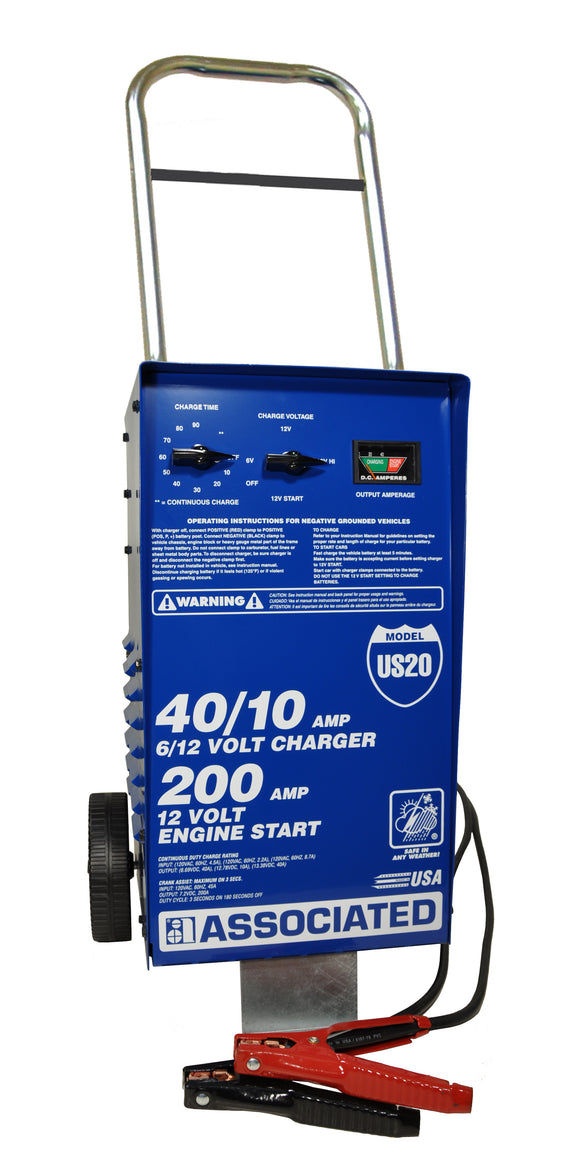 Associated Equipment US20 6/12 Volt Charger