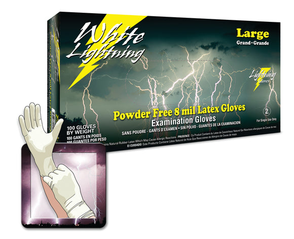 Atlantic Safety Products White Lightning Heavy Duty Latex Gloves