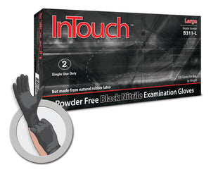Atlantic Safety Products InTouch Black Nitrile Gloves