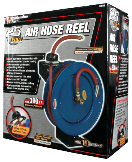 Performance Tool M608 Air Hose & Reel