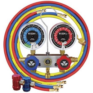 "Mastercool 83272 R1234yf Aluminum Manifold Gauge set w/ 72"" Hoses and R1234yf Couplers"