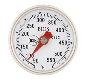 "1"" High Temperature Dial Thermometer Face"