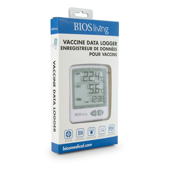124SC Vaccine Data Logger Retail image on an angle