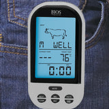 132HC Wireless Pre-programmed Thermometer  monitor clipped to jeans
