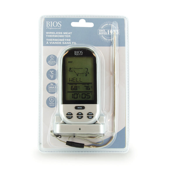 132HC Wireless Pre-programmed Thermometer retail packaging