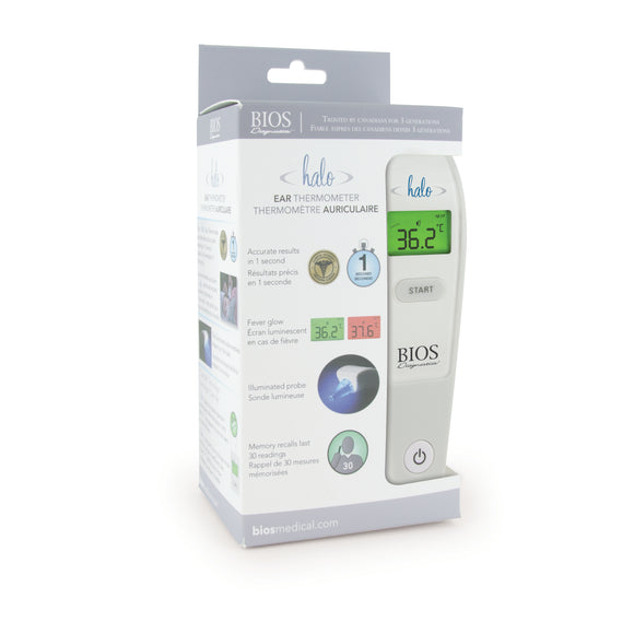 BIOS Diagnostic Halo Forehead Thermometer in Packaging