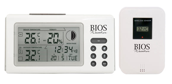 Indoor/Outdoor Wireless Thermometer and Hygrometer